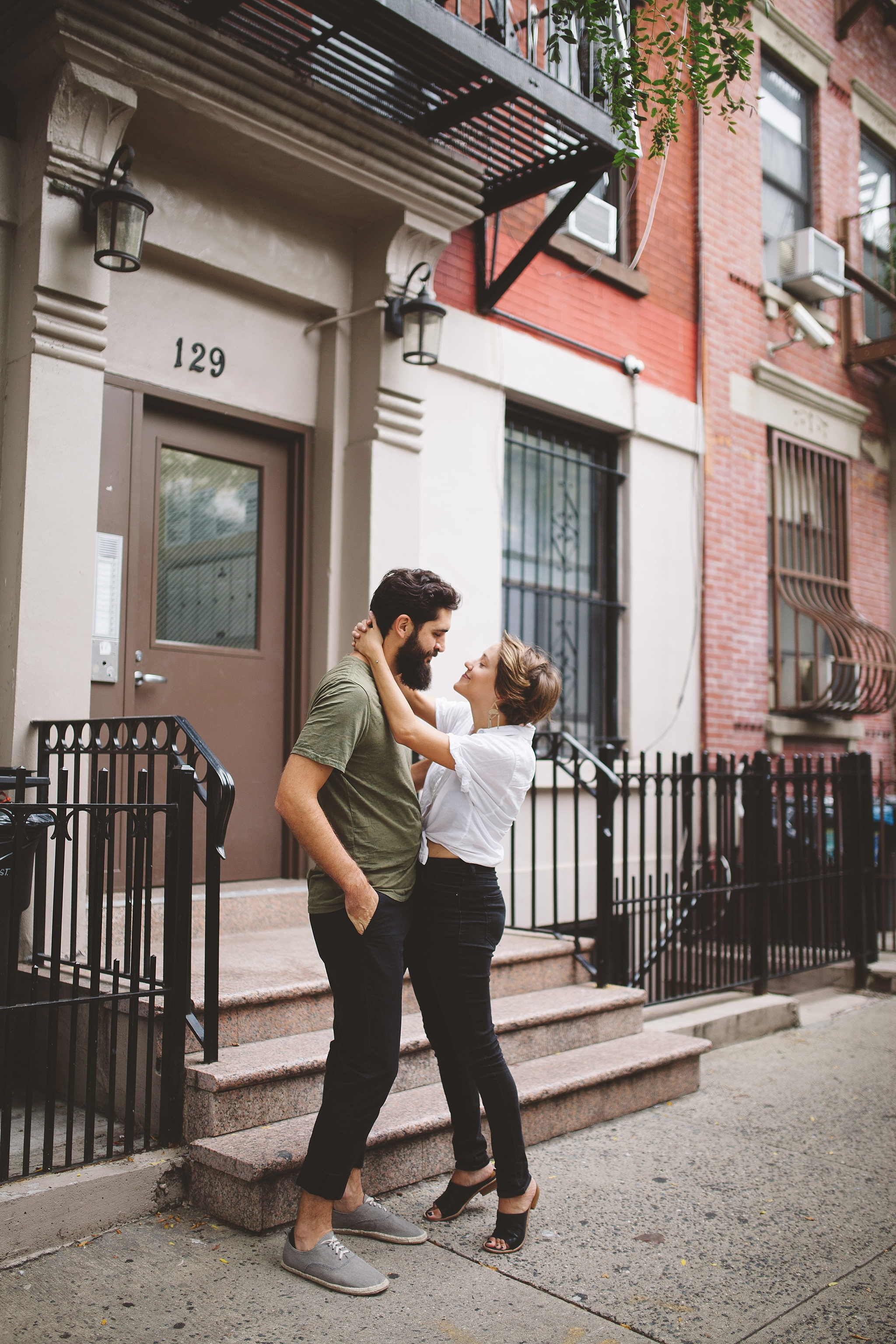 At home in Manhattan NYC engagement pictures
