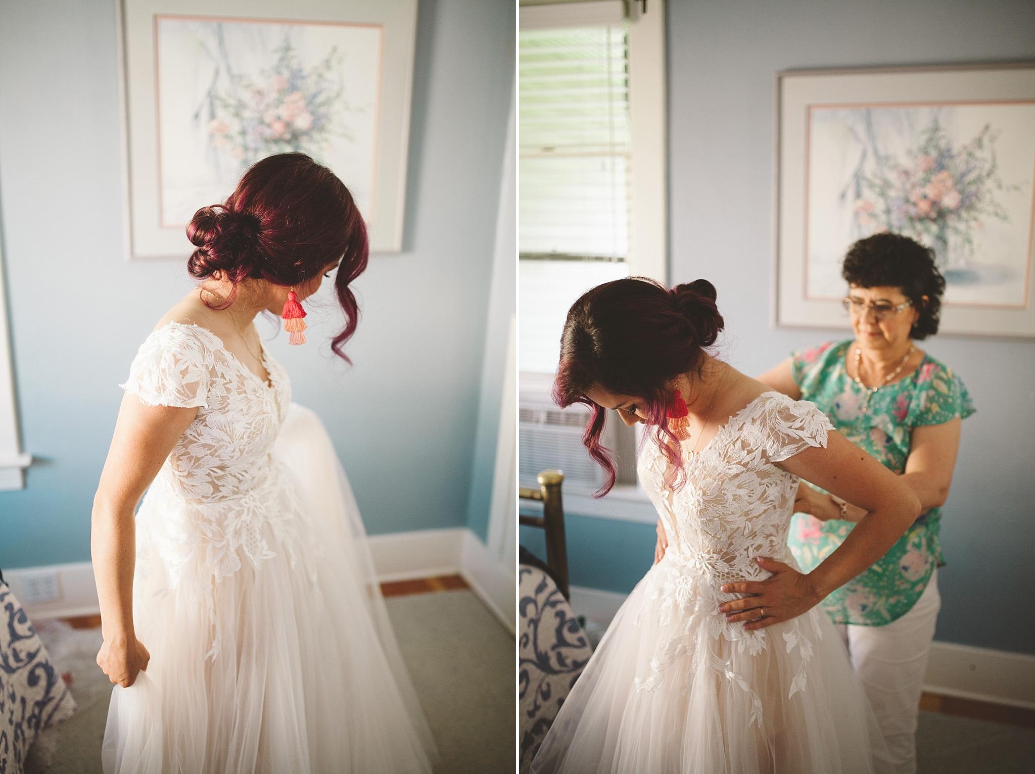 purple hair modern bride