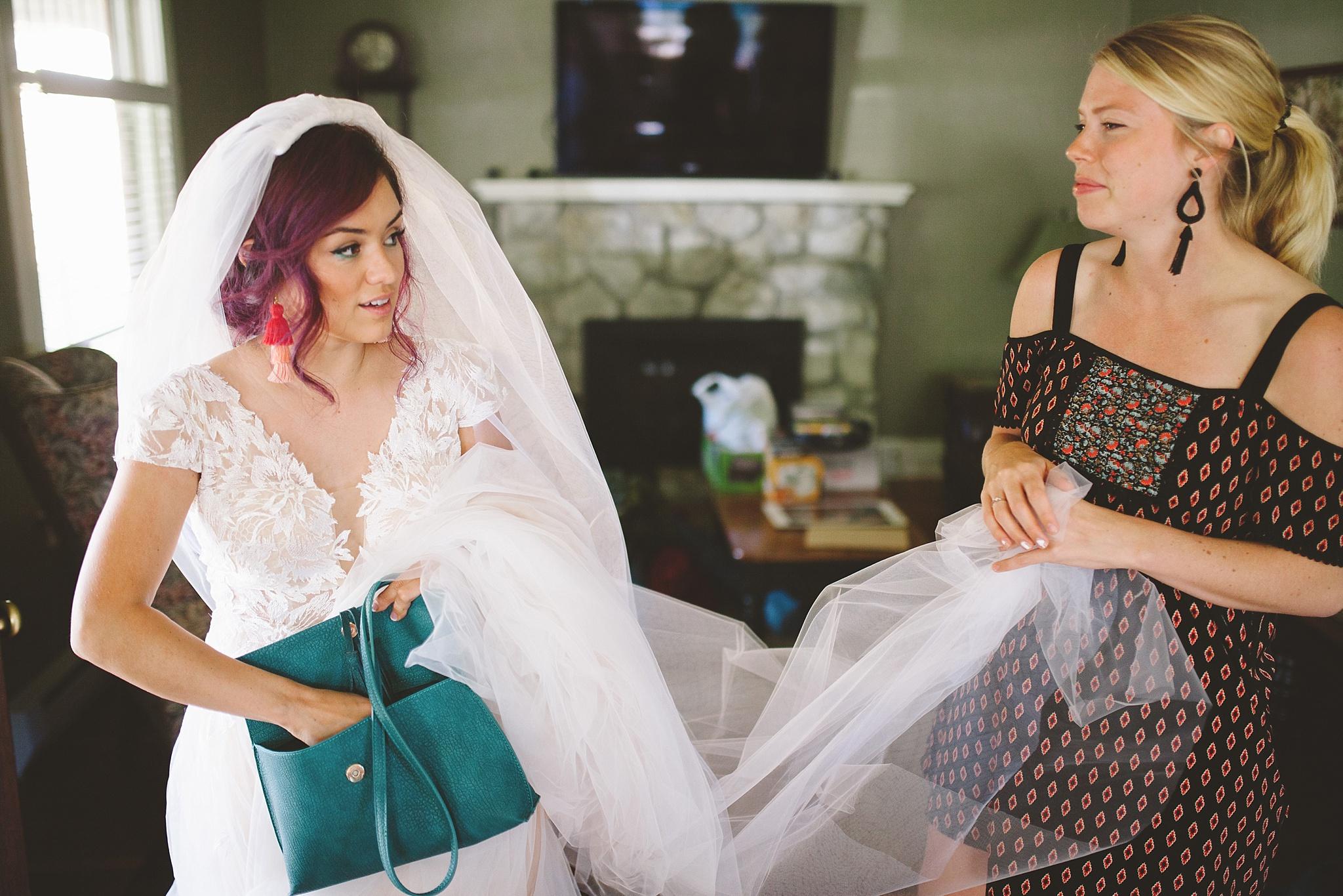 final touches bride mountain wedding