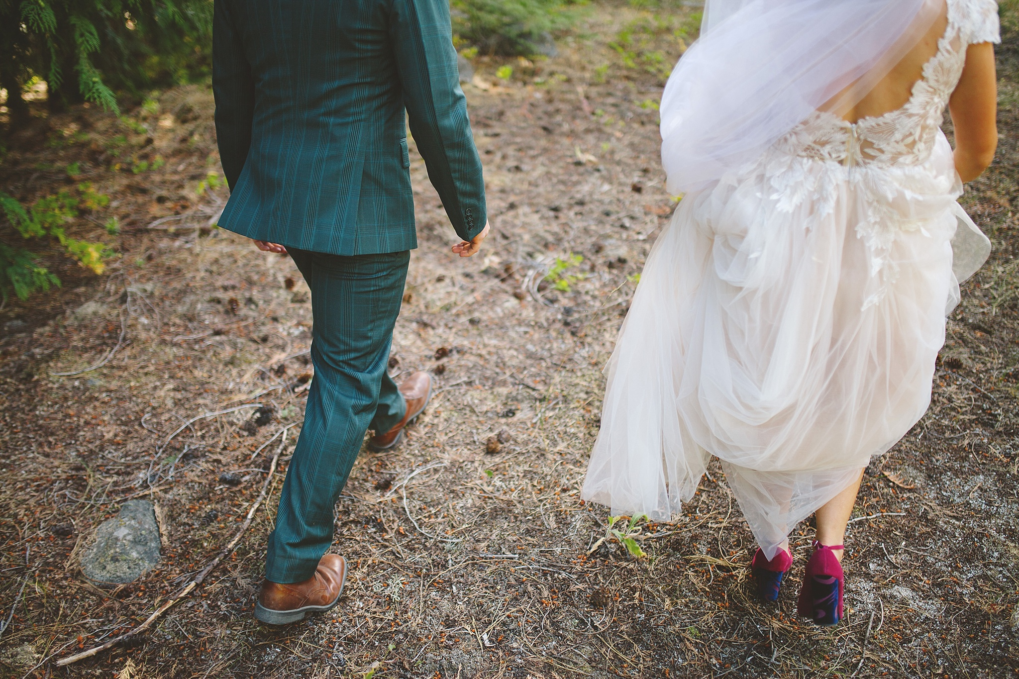 colorful wedding style