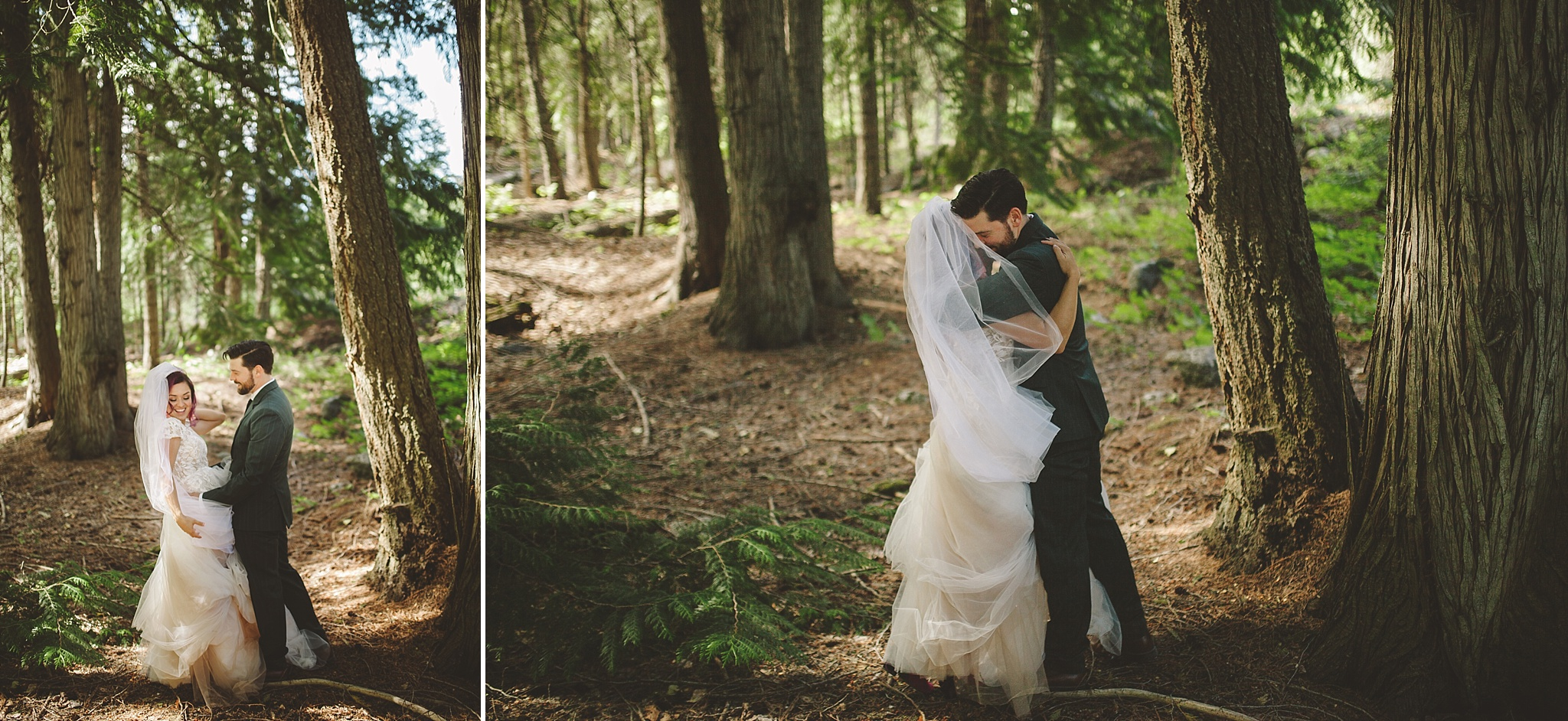 wedding in the woods of washington