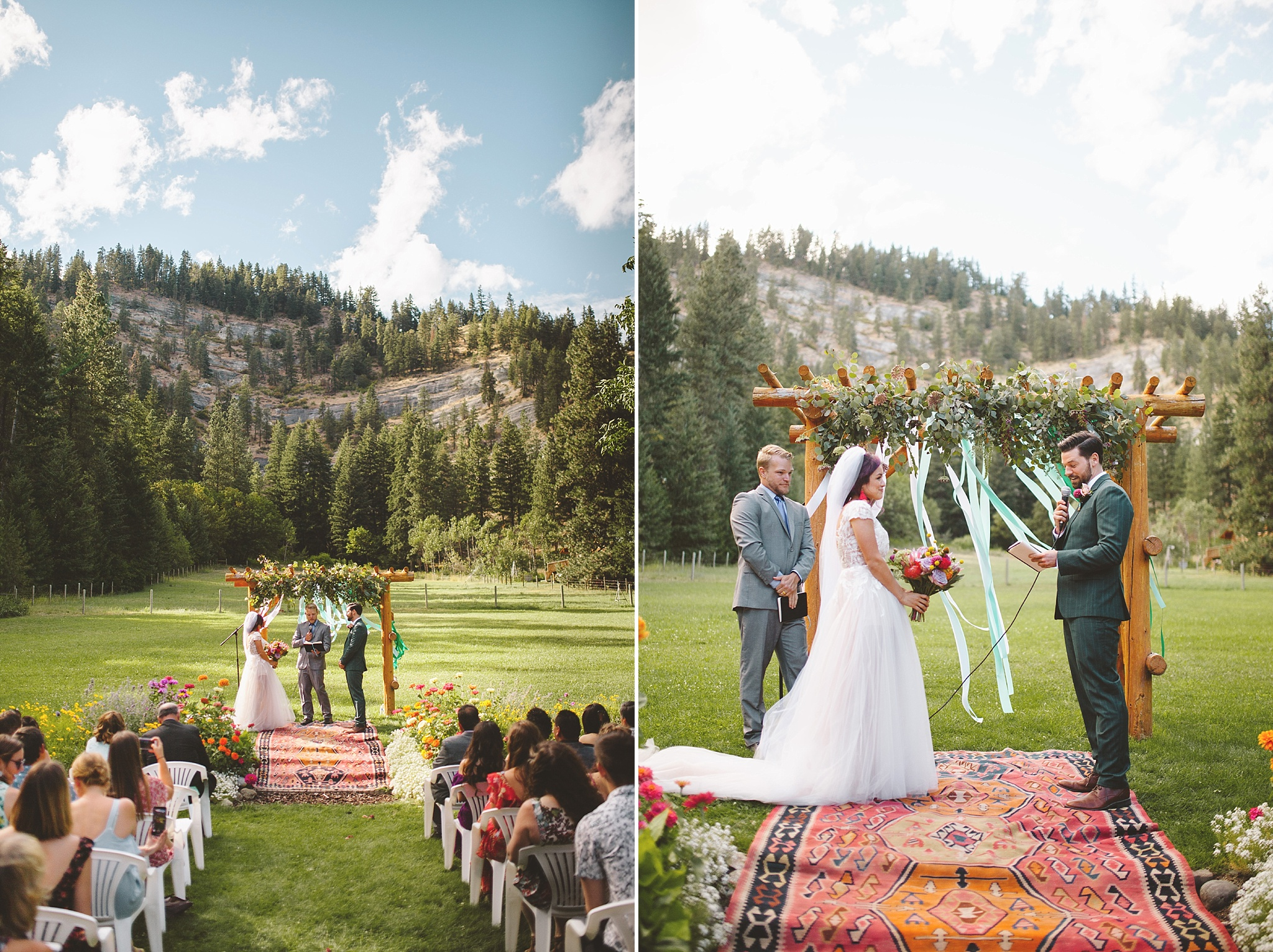 colorful outdoor ceremony in washington