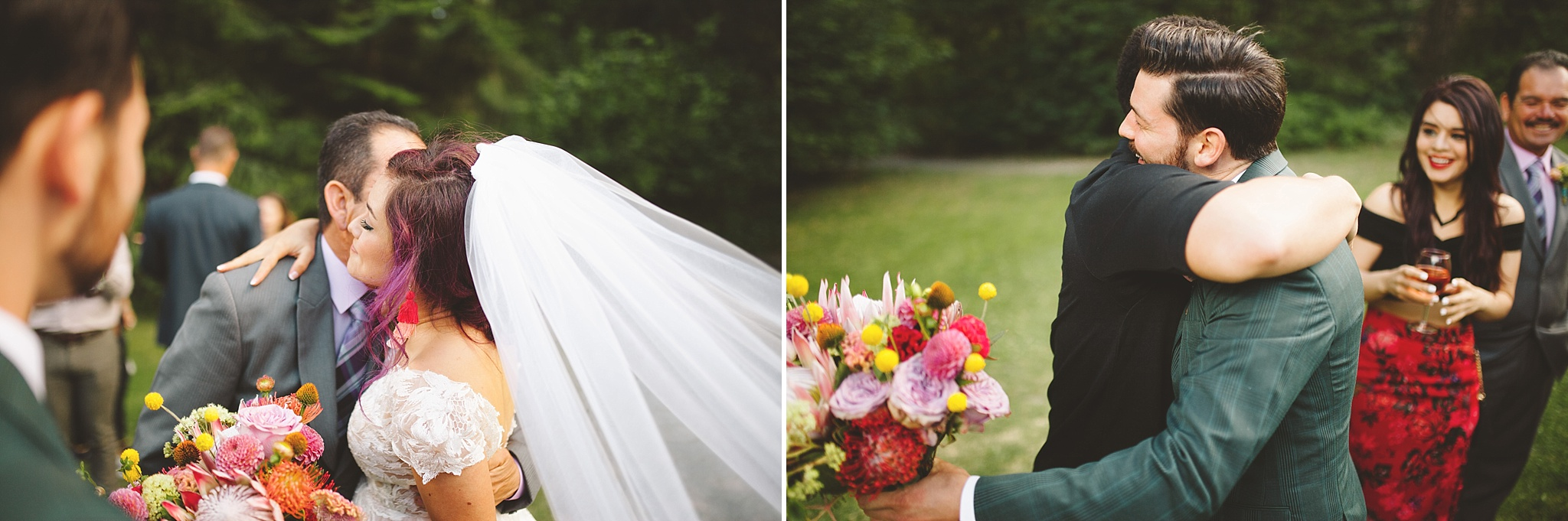 emotional moments after wedding ceremony