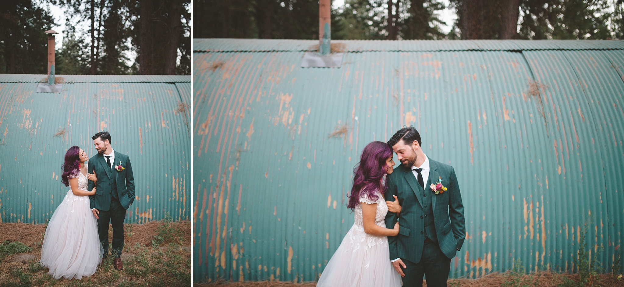 colorful wedding portraits in washington