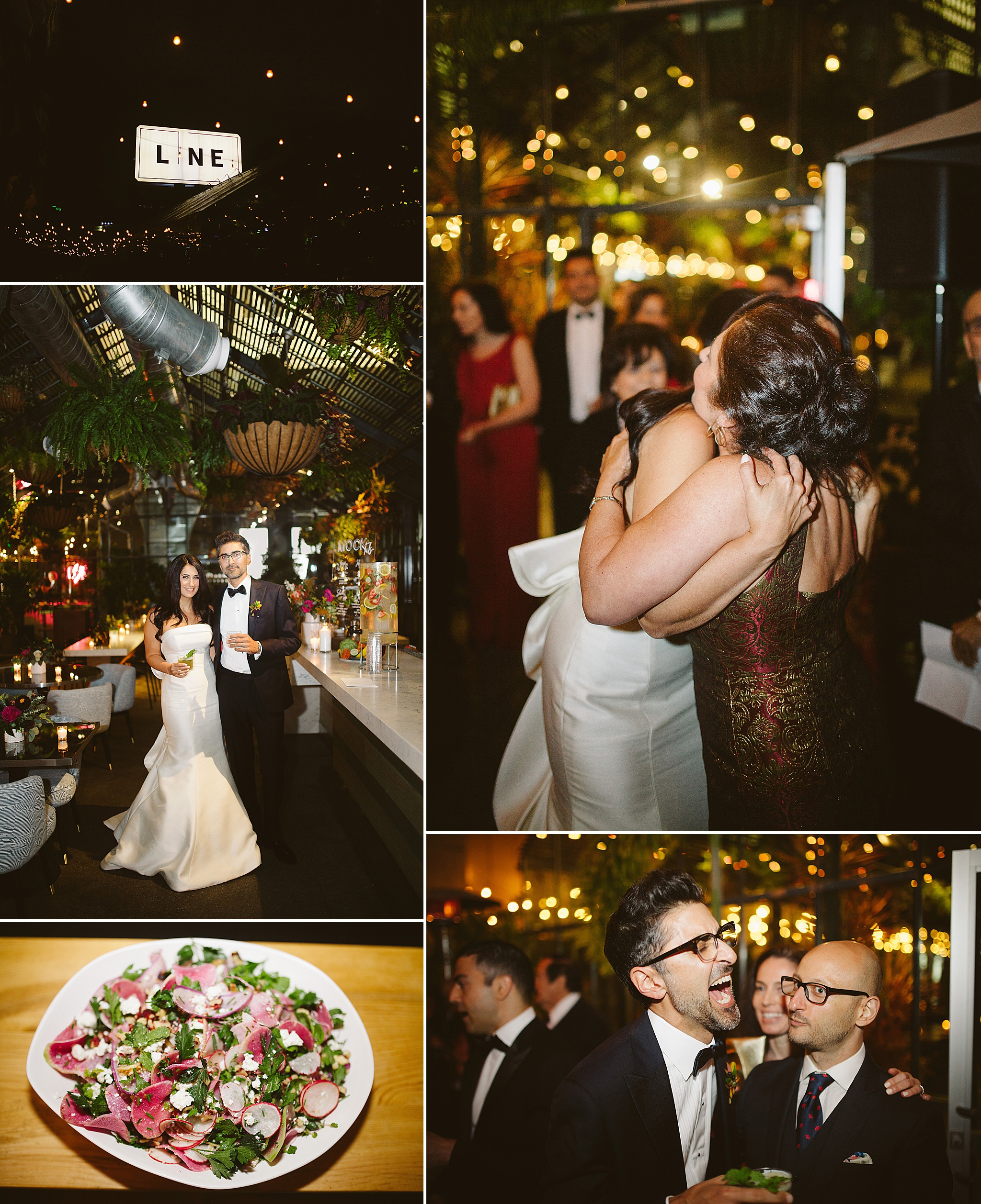 Openaire wedding reception LA rooftop venue