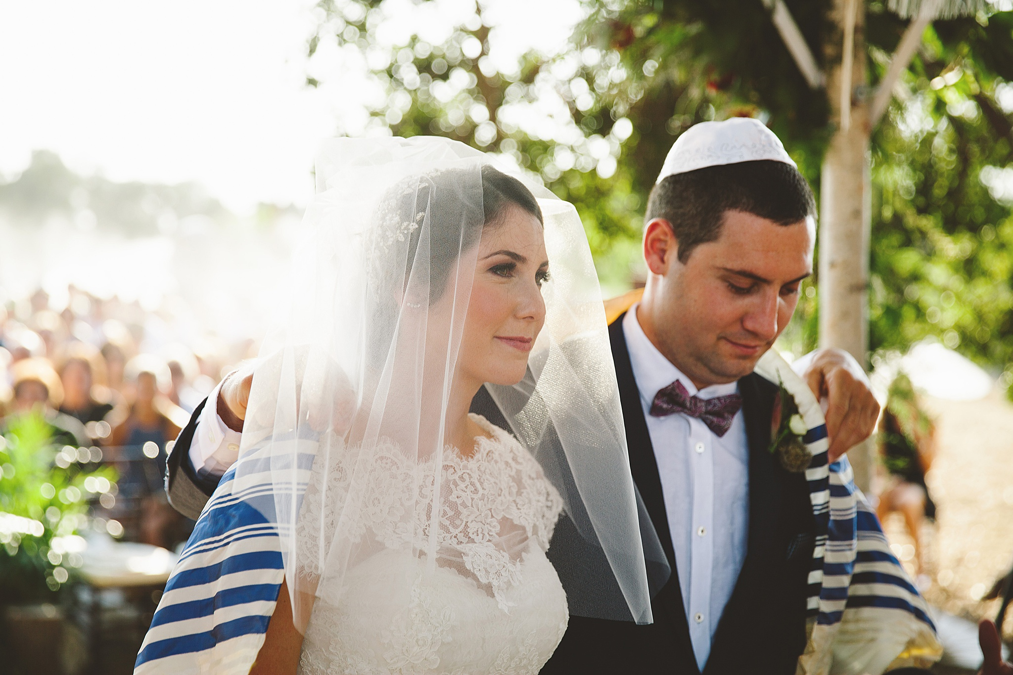 Traditional jewish wedding ceremony at outdoor LA wedding