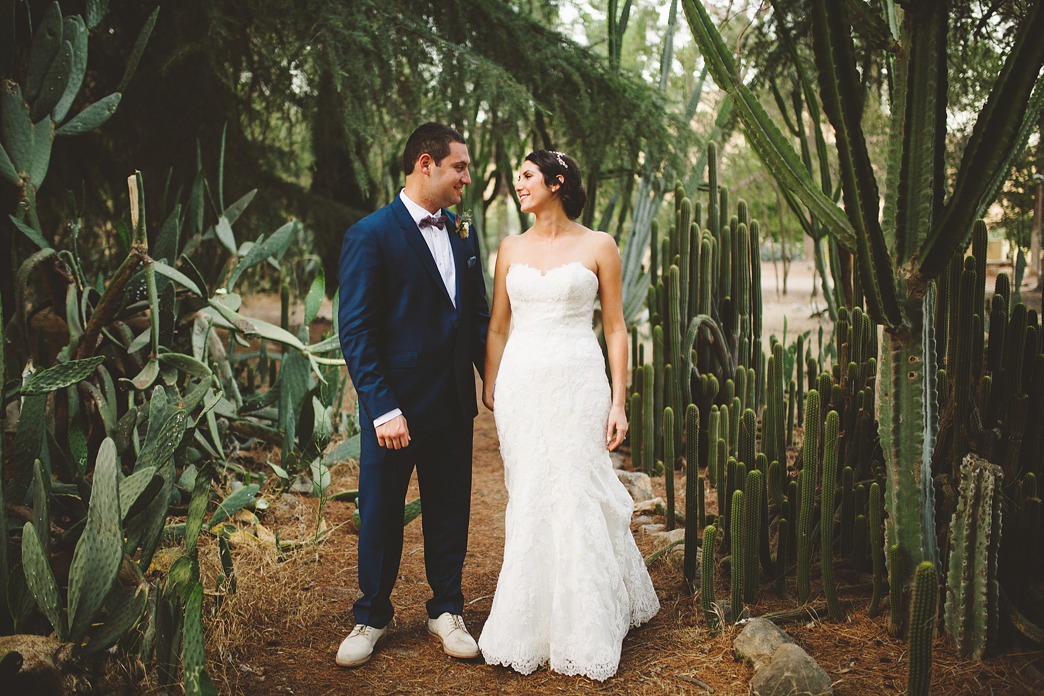 southern california outdoor wedding pictures with cactus