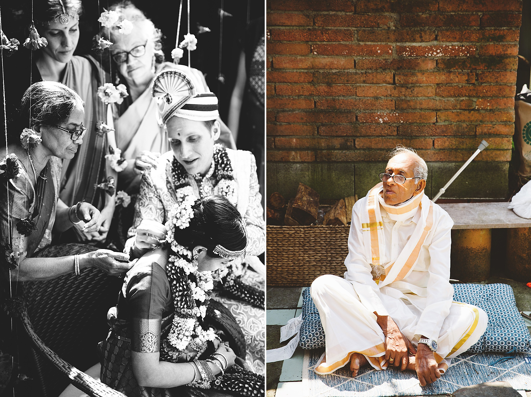 Cultural traditions at hindu wedding ceremony in los angeles.