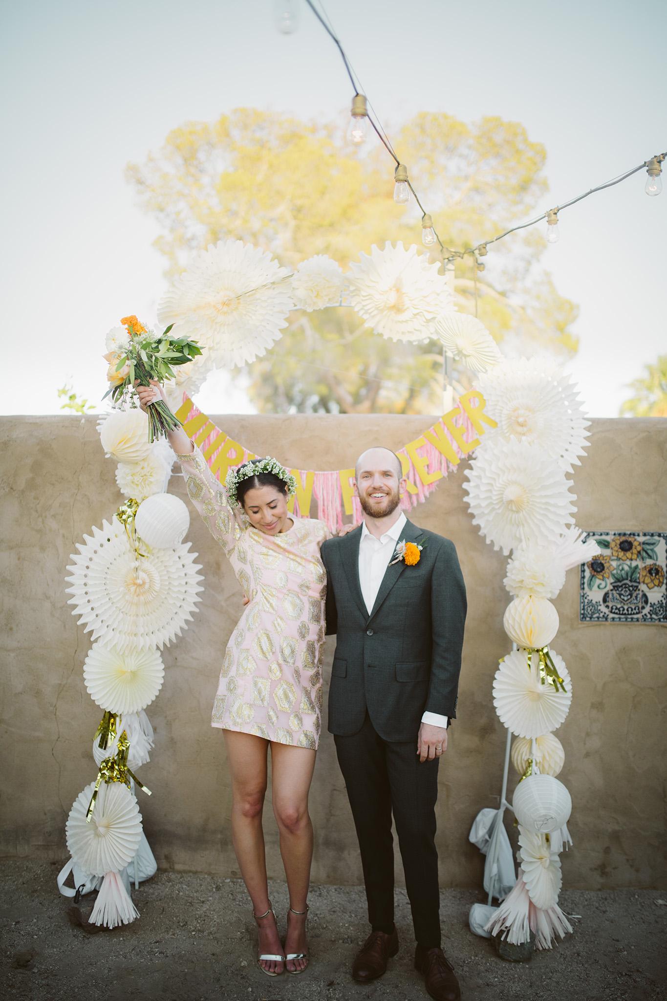 Ceremony site at 29 palms inn wedding